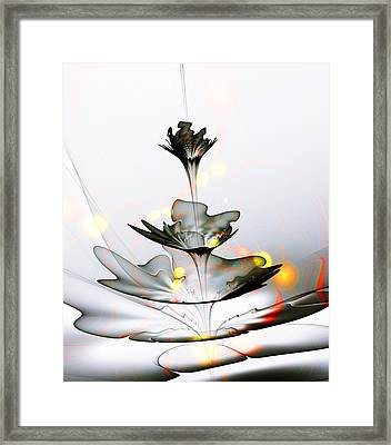 Glass Flower Framed Print by Anastasiya Malakhova