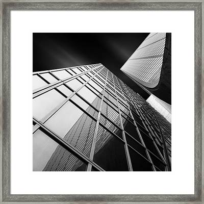 Glass Ladies IIi Vertical Tention ~ Curving Grace Framed Print by Mabry Campbell