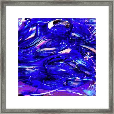 Glass Macro Xvii Framed Print by David Patterson