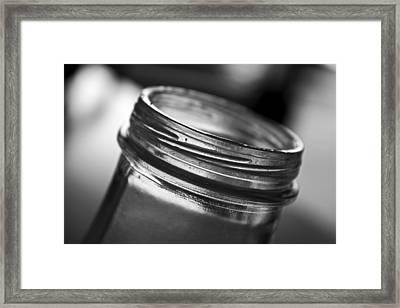 Glass Mouth Framed Print by Kristen Vota