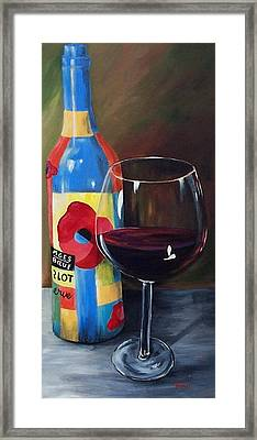 Glass Of Merlot   Framed Print by Torrie Smiley