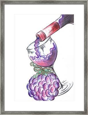 Glass Of Vino Ros'e  Framed Print by Teresa White