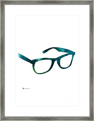 Glasses Silhouette  Watercolor Art Print Poster Framed Print by Joanna Szmerdt