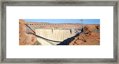 Glen Canyon Dam, Page, Arizona Framed Print by Panoramic Images