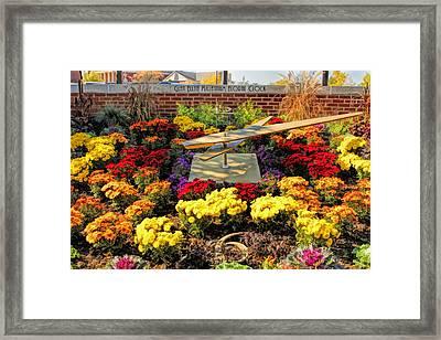 Glen Ellyn Millennium Flower Clock Framed Print by Christopher Arndt