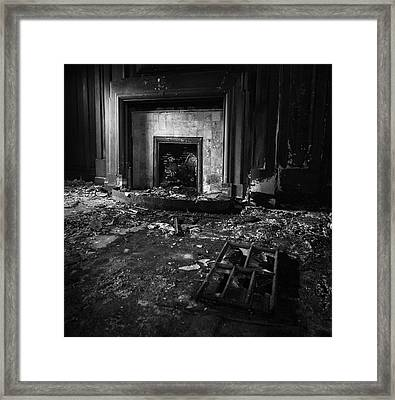 Old Fireplace Framed Print by Dave Bowman