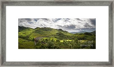 Glenfinnan Viaduct Panorama Framed Print by Jane Rix