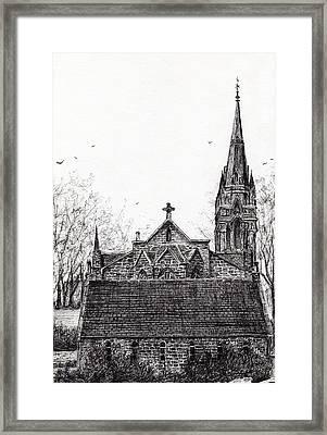 Glenmuick Church Framed Print by Vincent Alexander Booth