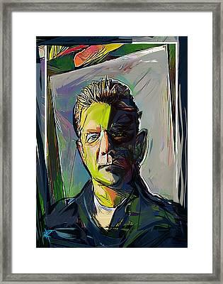Glenn Frey Framed Print by Russell Pierce