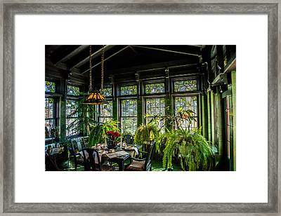 Glensheen Mansion Breakfast Room Framed Print by Paul Freidlund