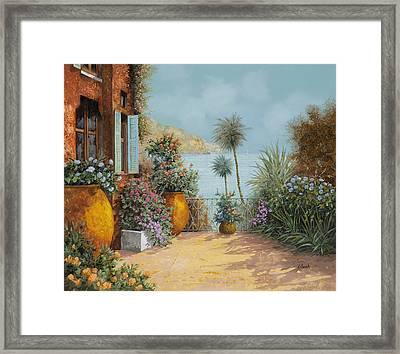 Gli Otri Sul Terrazzo Framed Print by Guido Borelli