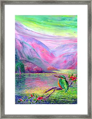Shimmering Streams Framed Print by Jane Small