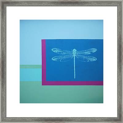 Glimspe Of Nature-dragonfly Framed Print by Bitten Kari