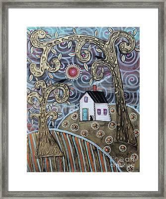 Glistening Landscape Framed Print by Karla Gerard