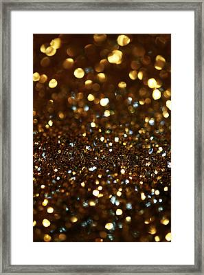 Glitter Framed Print by Fine Arts