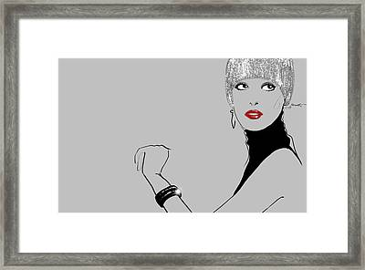 Glitter Go On And On Framed Print by Nadia La Moretti