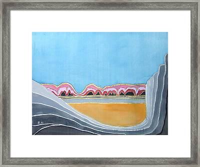 Global Warming Silk Melting Glaciers Valley Or Where Did All My Blue Glaciers Go  Framed Print by Rachel Hershkovitz