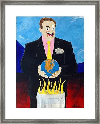 Global Warming Truth Framed Print by Sal Marino