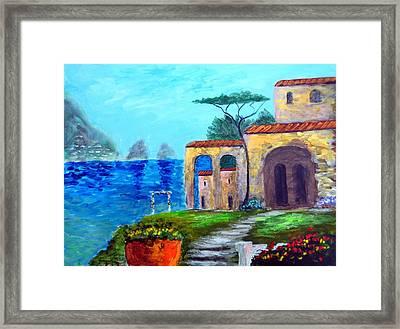 Glorious  Capri Framed Print by Larry Cirigliano
