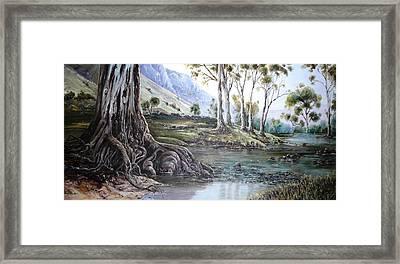 Glorious Gums - Flinders Ranges Framed Print by Diko