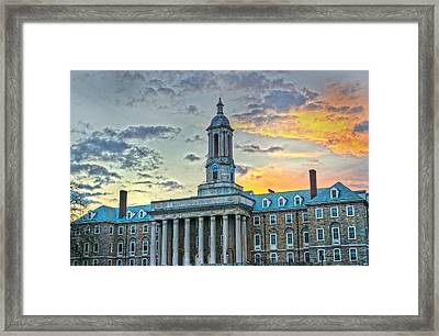 Glory Of Old State Framed Print by Michael Misciagno