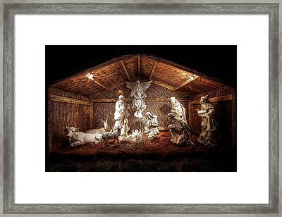 Glory To The Newborn King Framed Print by Shelley Neff
