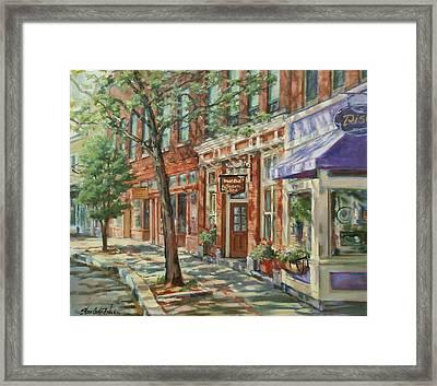 Gloucester Around Town Framed Print by Sharon Jordan Bahosh