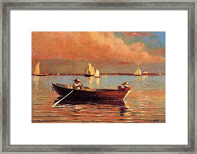 Gloucester Harbor Framed Print by Winslow Homer