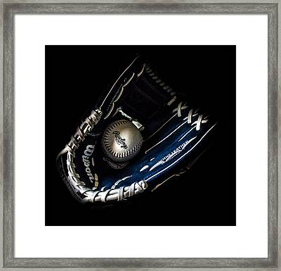 Glove And Ball Framed Print by Martin Newman