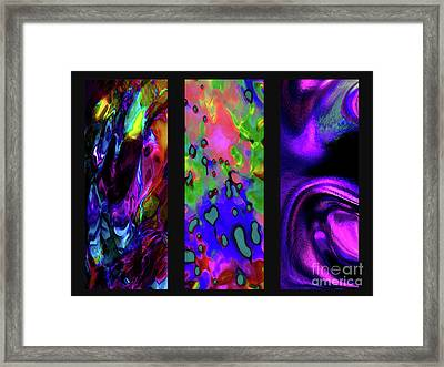Glow And Flow 'triptych' Framed Print by Terril Heilman