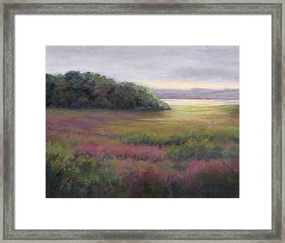Glow On Gilsland Farm Framed Print by Vikki Bouffard