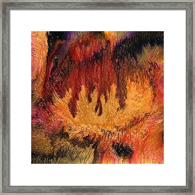 Glowing Caves Framed Print by Paul Tokarski