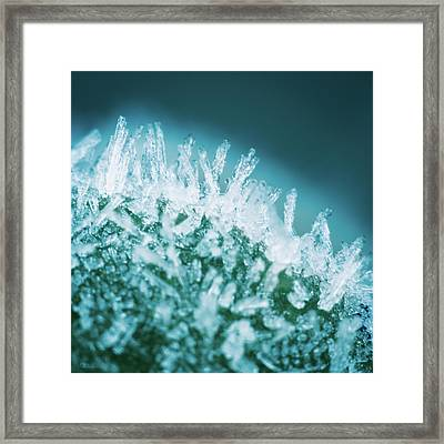 Glowing Crystals Framed Print by Wim Lanclus