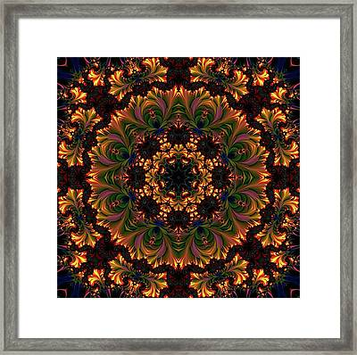 Glowing Mandala Ornament Framed Print by Lilia D