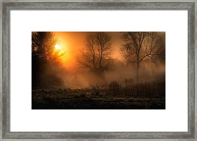 Glowing Sunrise Framed Print by Everet Regal