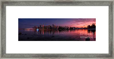 Glowing Vancouver Framed Print by JR Photography