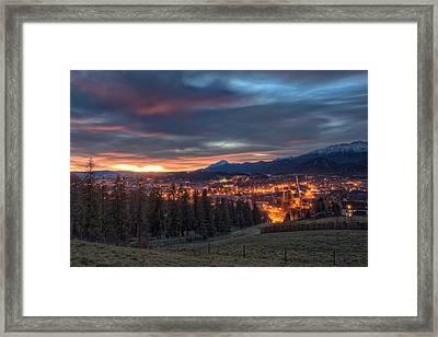 Glowing Zakopane Framed Print by Nico Trinkhaus