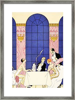 Gluttony Framed Print by Georges Barbier