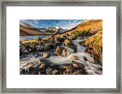 Glyder Fawr Mountains Framed Print by Adrian Evans