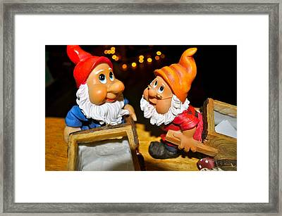 Gnome Friends Framed Print by Brynn Ditsche