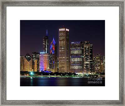 Go Cubs Go Framed Print by Jeff Lewis