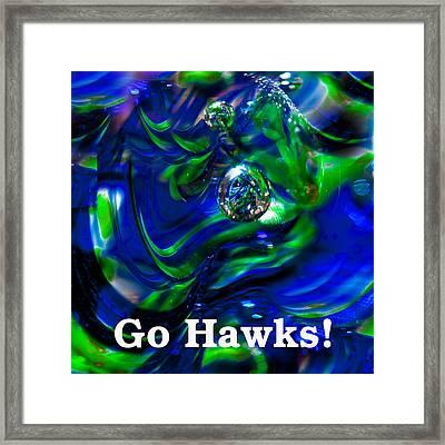 Go Hawks Framed Print by David Patterson