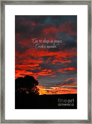 Go To Sleep Framed Print by Diane E Berry