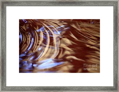 Go With The Flow - Abstract Art Framed Print by Carol Groenen