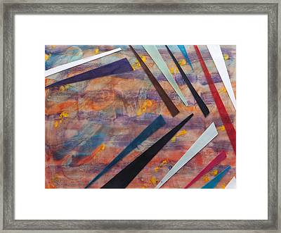 Go With The Flow Framed Print by Nell Werner