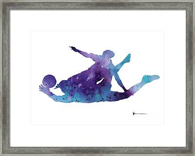 Goalkeeper Poster Framed Print by Joanna Szmerdt