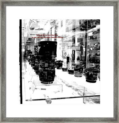 Goals Give You The Lens Framed Print by Jane Vaughan
