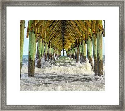 Goastal Golden Hour Framed Print by Betsy C Knapp