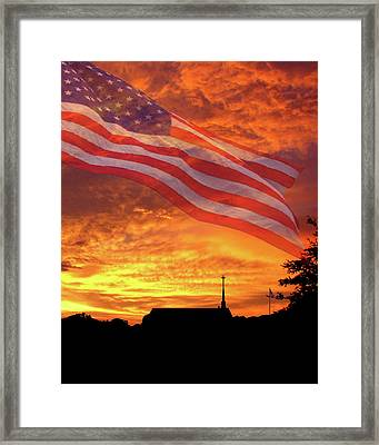 God Bless America Framed Print by Adele Moscaritolo