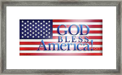 God Bless America Framed Print by Shevon Johnson